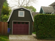 A Gambrel roof garage in Sellwood