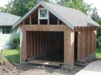 Building Low Pitch roof garage