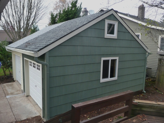 Gable end of Twin Garages