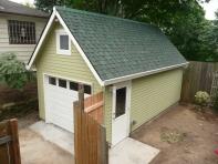 Gable roof with Hardiplank siding