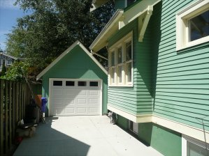 HardiPanel siding in house color