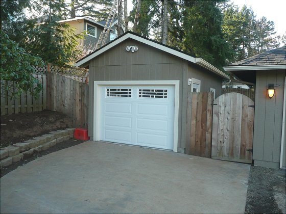 Lake Oswego Low Roof High Ceiling garage