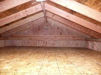 Low roof with dropped attic floor
