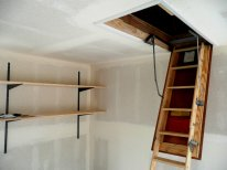 Our 30x60 attic ladder for bikes and large cartons