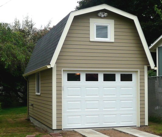 Our Gambrel roof with extra storage