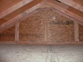 Storage area of a twin garage (4.5' high)
