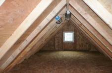 Storage attic in Standard Gable garage